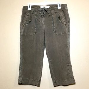 JCrew brown chino drawstring Capri city fit cargo